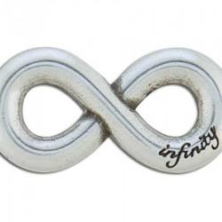 7986-00 Çift Vidalı Sonsuzluk Aksesuar - Antik Gümüş 38 x 19 mm