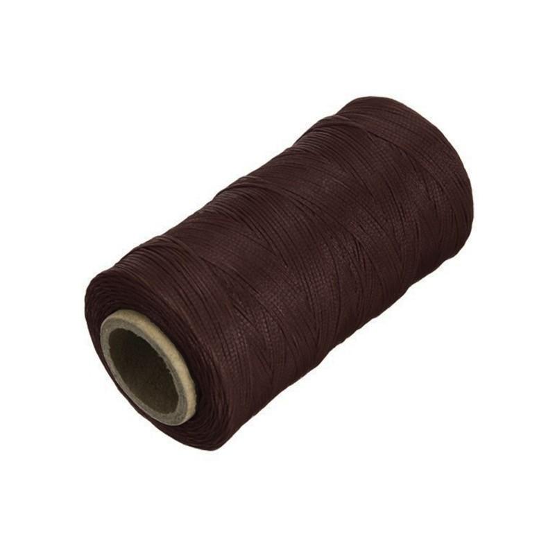 Vakslı Örgülü Dikiş İpi 500 Metre - Kahve 0,8 mm
